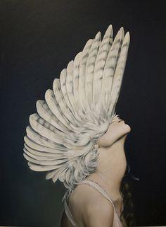 "The Look: ""Ascending Athena"" by Amy Judd Art Edi Rock, Arte Peculiar, Illustration Arte, Art Du Monde, Drawn Art, Surrealism Painting, Art Brut, Foto Art, Art Photography"