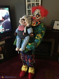 Jolene: This is my son Jayse (age 8). He loves illusion costumes, so this year we opted for creepy/funny. Jayse's costume makes it look like he is a baby that is...