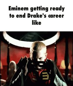 Eminem getting ready to end Drake's career like  GIF