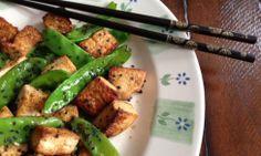 Orange-Sesame Tofu with Snow Peas recipe from @Casey Buss Magazine