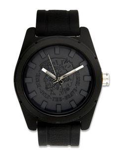 Diesel DZ1591 Unisex Logo Dial Black Silicone Watch