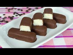 How to make Bounty Chocolate Bars Bounty Chocolate, Love Chocolate, Chocolate Bars, Romanian Food, Romanian Recipes, Party Platters, Dessert Drinks, Christmas Treats, Summer Recipes