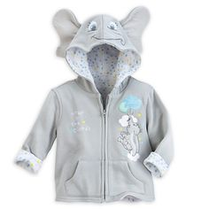 "Blue Disney Store Baby Winnie the Pooh /""Little Bug Hugs/"" Hooded Jacket"