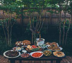 Upscale Comfort Food, Casual Rustic Set-up #foodtrends2014