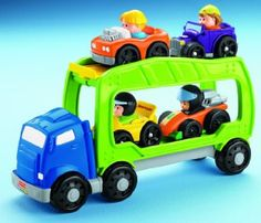 Amazon.com: Fisher-Price Little People Wheelies Car Carrier: Toys & Games