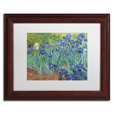 Vincent van Gogh 'Irises, 1889' Matte, Wood Framed Wall Art