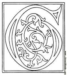 Whole alphabet [Picture: clipart: initial letter G from late century printed book] Initial Letters, Letter Art, Illuminated Letters, Illuminated Manuscript, Illumination Art, Alphabet Coloring Pages, Book Of Kells, Graffiti Lettering, Calligraphy Alphabet