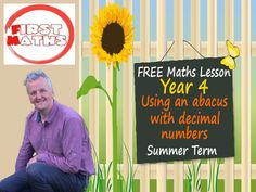 YouTube Using an abacus with decimal numbers Year 4 Maths PowerPoint - Summer Term