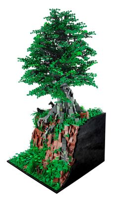 lego arbre tree vert green végétation castle chateau sapin city LEGO légo
