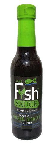 "No fish were harmed for this ""fish sauce""! Vegan FyshTM sauce is made with an organic seaweed blend that adds an 'oceany' flavor to any dish. This all purpose seasoning sauce is great for stir-fries,"
