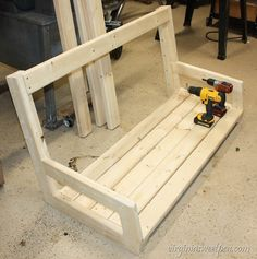 DIY Swing - Learn how to make a swing using eight pieces of lumber.