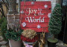 Joy to the World Christmas Pallet, stencil instructions are great, details make the difference.