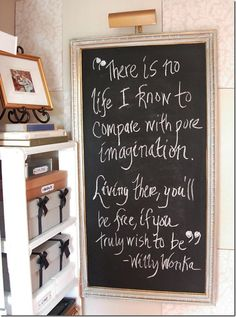 I don't know where, I don't know on what but I must have this quote somewhere in my home!!