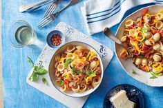 Sweet Pepper Pasta with Sausage Recipe. My family loves this! We slice up chicken apple sausages instead though.