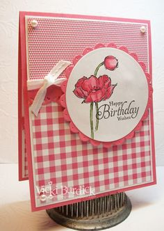 It's a Stamp Thing: Seize the Birthday. Simply Sketched - Happy Birthday Wishes Poppy Cards, Happy Birthday Wishes, Birthday Greetings, Beautiful Handmade Cards, Handmade Birthday Cards, Card Sketches, Card Tags, Flower Cards, Cute Cards