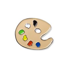 Artist's Painter Palette  Enamel Lapel Pin 8.95$ Perfect Accessory for Jackets, Hats, and Bags!