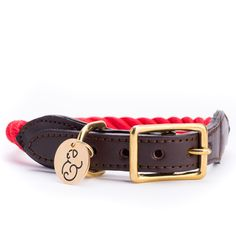 Red Rope & Leather Collar by Found My Animal