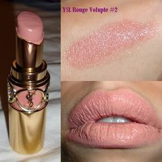 I Heart Cosmetics: YSL Rouge Volupte Number 2 Sensual Silk Swatches