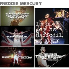 Freddie Mercury quotes :) Just saw the last Queen concert in North America in Toronto! It was very saddening but they put on a good show. Adam Lambert was in Freddie's place:)