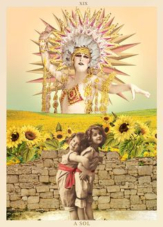 A SOL  - TAROT #tarot #collage #thesun #lesoleil