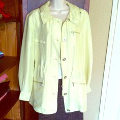 Pale Chartreuse Silk Jacket