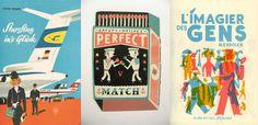 Matchbook Illustration by Tom Frost.I just love me a sweet matchbox. Illustration Arte, Gravure Illustration, Graphic Design Illustration, Luba Lukova, Old Posters, Etiquette Vintage, Matchbox Art, E Mc2, Vintage Poster