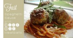 spaghetti sauce recipe http://www.kludgymom.com/fast-spaghetti-sauce-and-kick-ass-meatballs/
