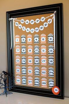 Halloween Countdown Calendar by TomKat Studio