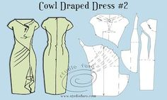 Pattern Puzzle - Cowl Drape Dress