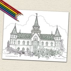LDS BOOK REVIEW Temples Drawing On Symbols Adult Coloring Book