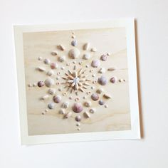 Sister Golden | Mandala II – Print of original mandala design by Vicki Rawlins. Original mandala design made completely of collected shells from the shores of the Atlantic