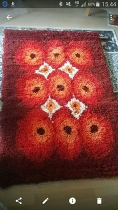 Rya Rug, Mid Century Furniture, Macrame, Carpet, Blanket, Rugs, Ideas, Eggs, Farmhouse Rugs