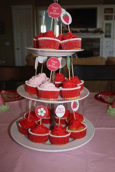 Strawberry Shortcake Cupcakes #strawberryshortcake #cupcakes