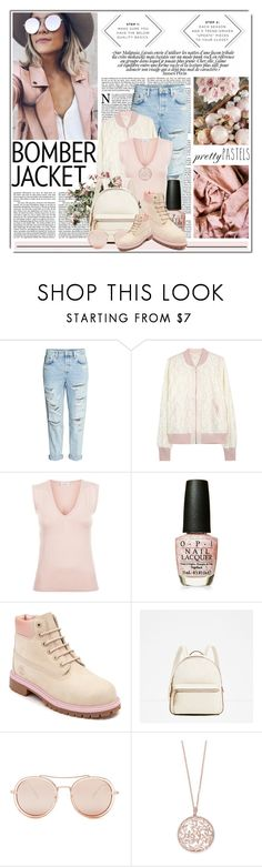 """She Likes Her Pastels......"" by queenrachietemplateaddict ❤ liked on Polyvore featuring MINKPINK, H&M, Clu, OPI, Timberland, Betsey Johnson and Effy Jewelry"