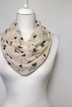Schals für TierfreundeHunderassen Schal: Mops