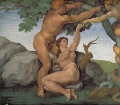 Ceiling of the Sistine Chapel: Genesis, The Fall and Expulsion from Paradise  The Original Sin, 1508-1512 - Michelangelo