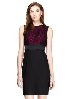 MAGGY LONDON Sleeveless Dress with Lace Top