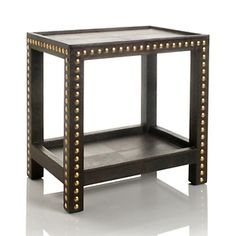 studded furniture | Nate Berkus for HSN uses large brass studs to bring a funky glam look ...