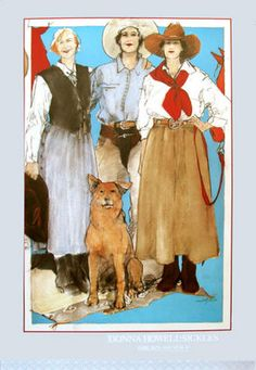"""Poster titled """"Rubie, Ruth and Navajo"""" by Donna Howell-Sickles.  Available from postersofsantafe.com"""