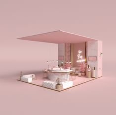 Booth Design for Beauty Co Kuwait on Behance Beauty Room Decor, Beauty Salon Decor, Boutique Decor, Boutique Interior, Salon Interior Design, Cafe Interior, Schönheitssalon Design, Decoration Chic, Exhibition Booth Design