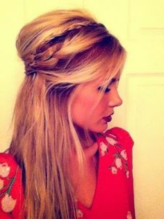 Pin back hair style with braids