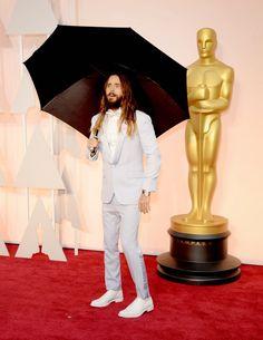 Jared Leto Oscar Töreni Kırmızı Halı #Oscar #Oscars #Oscars2015 #RedCarpet #Fashion #Mode #Vogue #Fashionable #Fancy #Moda #Man #Erkek #Actor #Aktör #Trendy #Trend #Trendler #Style #Kombin #Tasarım #Koleksiyon #Umbrella #Şemsiye #Hair #Saç #Handsome #Yakışıklı