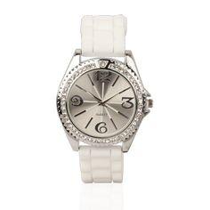 Reloj Alma con correa de silicona, disponible en negro y en blanco. Ideal para regalar a mujeres en campañas de publicidad. #promociones #regalosoriginales #regalosempresariales