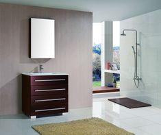 Aqua Decor Elixir 36 Inch Modern Bathroom Vanity Set W Medicine Cabinet Espresso