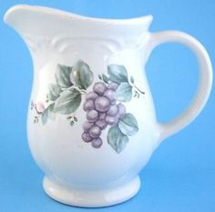 Pfaltzgraff Grapevine Dinnerware Creamer Cream Jug Grapes Leaves | eBay