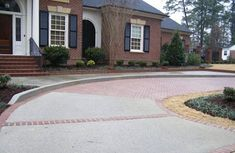 28 Home Driveway Design Ideas. A driveway is a good way to welcome guests and direct their focus to your house. If you too want to get methods to keep up your driveway, there are a . Brick Paver Driveway, Modern Driveway, Driveway Design, Stone Walkway, Concrete Bricks, Concrete Stone, Concrete Driveways, Walkways, Concrete Floors
