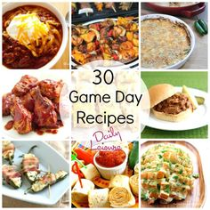 30 Game Day Recipes: It's Football time in Tennessee. I need ideas!