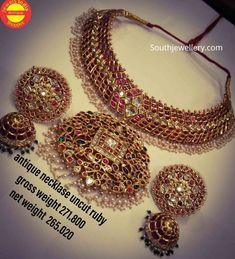 Beaded Jewelry Designs, Gold Jewellery Design, Antique Jewellery, Diamond Jewellery, Diamond Bracelets, Jewellery Box, Jewelry Patterns, Necklace Designs, Ruby Jewelry