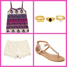 Cute back to school outfit for junior high! Clothes and shoes from Forever 21, jewelry from Charlotte Russe