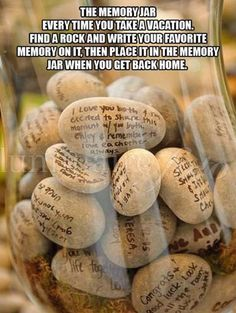 love traveling and special occasions!! Preserve memories by writing them on stones and enjoy going through memory lane while sipping coffee with your loved ones. :)